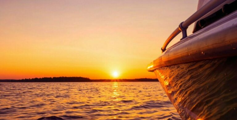 Broome Cruises boat at sunset